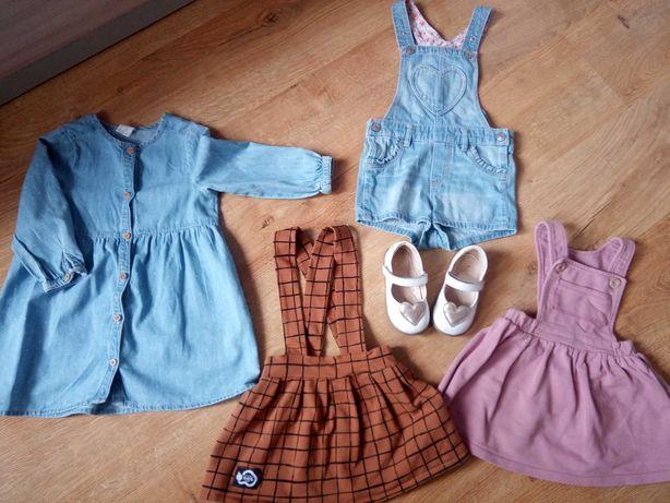 Sukienki spodnie ogrodniczki 86 Coodo PanRobak H&M Emel 23 dziewczynka