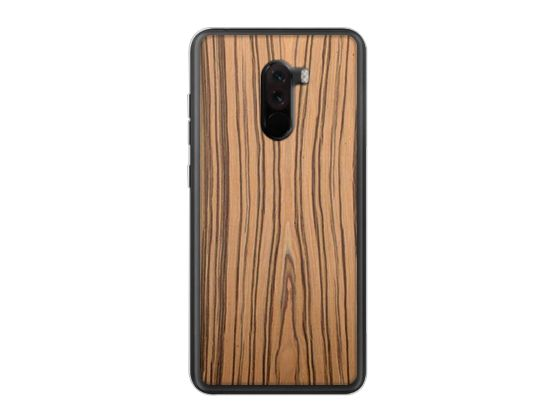 Drewniane Etui Case Xiaomi Pocophone F1 + Szkło