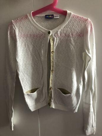 Pieky ażurowy elegancki sweterek ze złotą nitką 116