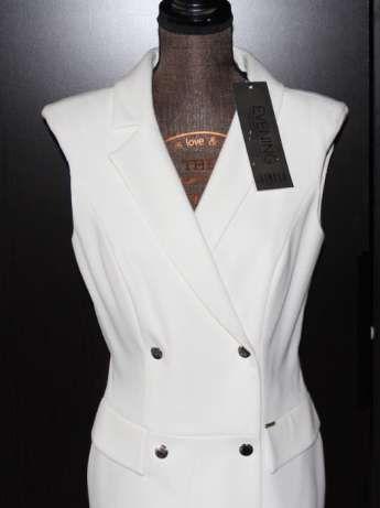 SIMPLE biała sukienka suknia 36 S ślub slubna dior chanel gucci liu jo
