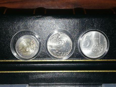 Caixa com 100 cápsulas 30mm (por exemplo moedas de 2.5€ ou 5€)