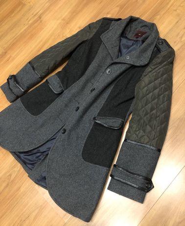 Szaro czarny płaszczyk NEXT 38 M płaszcz kurtka