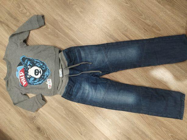 Утеплённые джинсы+кофта