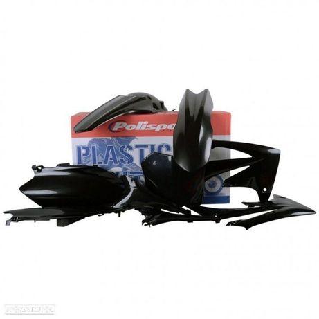 kit plasticos polisport preto honda crf 450r / 250r