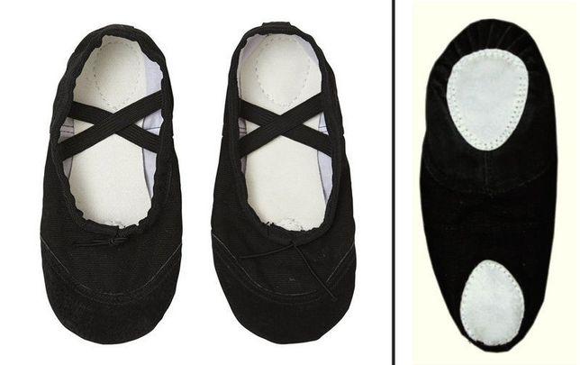 Детские балетки (чешки) для танцев черные