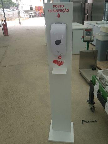 coluna de desinfeção de mãos automatica