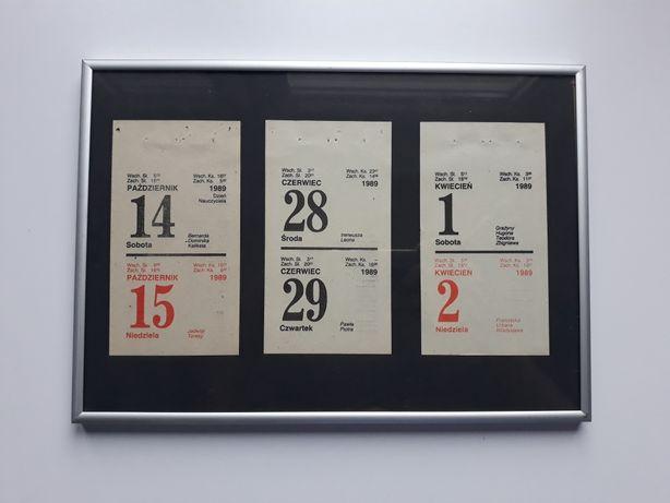 kartka z kalendarza 1989