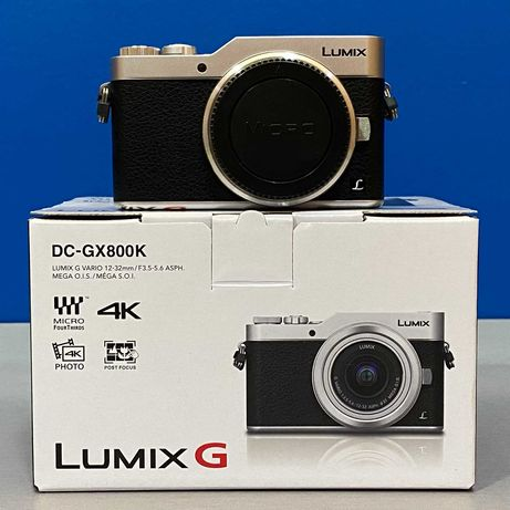Panasonic Lumix DC-GX800 (Corpo) - 16MP/4K - NOVA