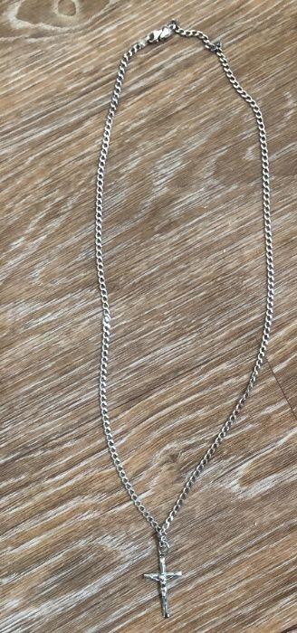 Серебряная цепочка и крестик 925 пробы Решетиловка - изображение 1