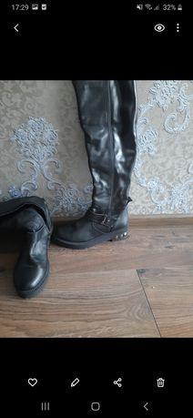 Сапоги кожаные осень зима Sharman