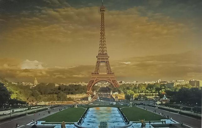 Obraz na płótnie miasta Paryż Wieża Eiffla 90x140 cm