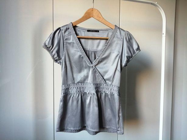 Bluzka damska srebrna metaliczna Vero Moda rozmiar 34 36