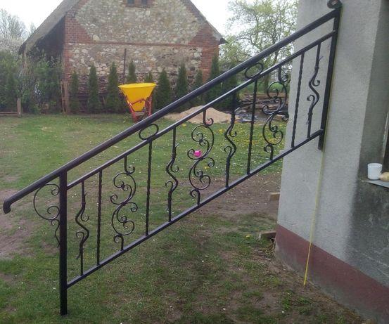 Balustrada kuta na schody / barierka / poręcz / metalowa / kowalstwo