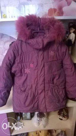 Зимняя куртка для девочки 4-5 лет