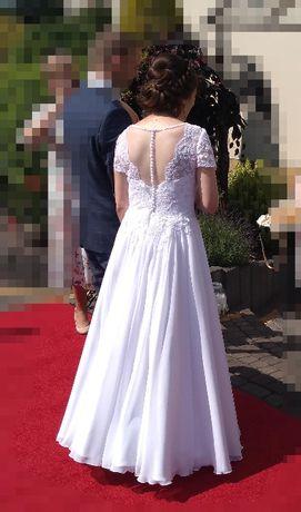 suknia ślubna 36/38 wzrost 160 cm + 7 cm obcas