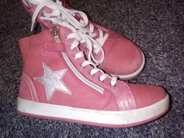 Buty wiosenne dziewczęce, dla dziewczynki r. 32 Lasocki skórzane