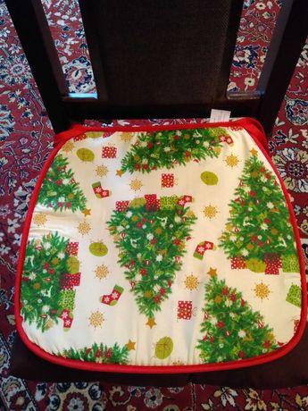 Подушка на стул, новогодняя