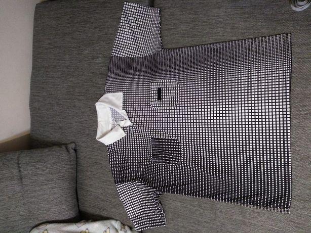 Koszulka sędziowska biało czarna kratka firmy sport rozmiar L - XL