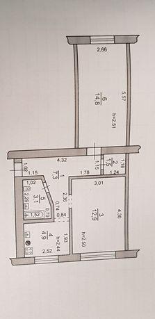 Продам квартиру 2-х комнатную в Докучаевске