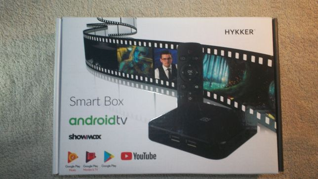 Smart BOX TV HYKKER Android TM 8,0 Nowy