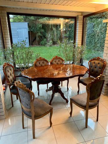 Komplet mebli vinted orzech stół krzesla wloski komplet okazja !!