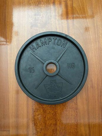 Disco 15kg marca Hampton - furação 55mm