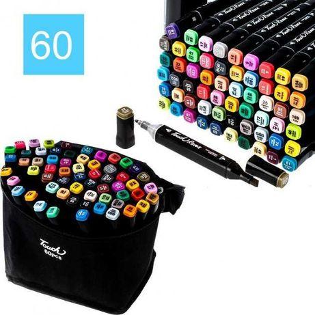 Набор скетч-маркеров для рисования двусторонних Touch фломастеры 60 шт