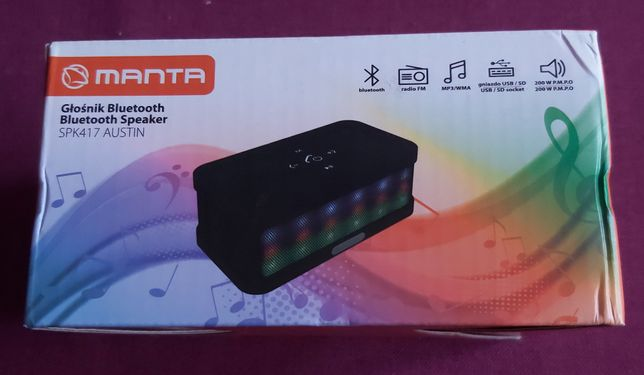 Głośnik bluetooth telefon radio Manta SPK417 Austin