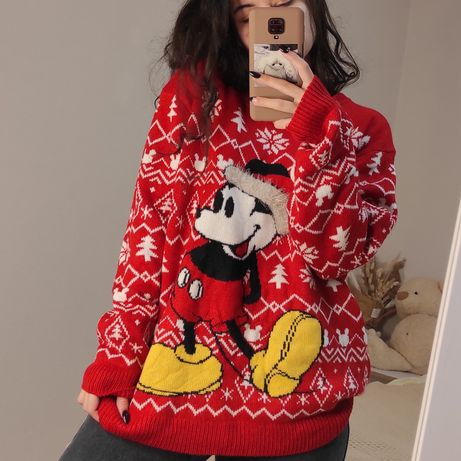 Новогодний свитер с микки маусом Mickey mouse Disney дисней