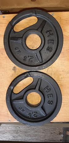 Obciążenia olimpijskie 2x2.5kg fi 51mm Hes