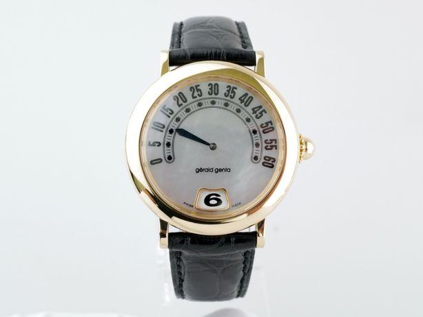 Мужские бу часы Gerald Genta Retro Jumping Hour 36 мм