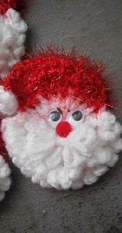 Mikołaj, ozdoby świąteczne, rękodzieło, ozdoby choinkowe