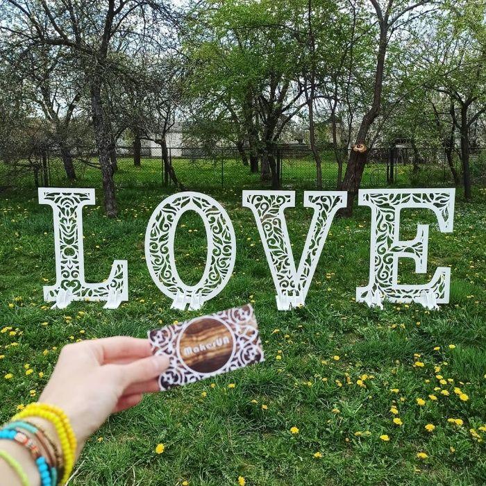 Слово Love фотозона свадьба арка свадебный декор весілля буквы декор Ивано-Франковск - изображение 1
