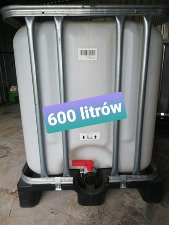 Zbiornik Mauzer 600 litrów czysty wypłukany po spożywce możliwy dowóz