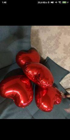 Фольгированные шары сердце, 8 штук, 18 дюймов