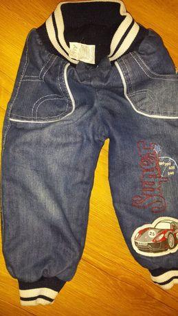 Spodnie jeans ocieplane, na zimę rozm. 4 110 cm
