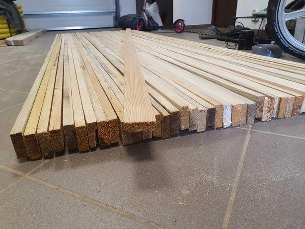 Listwy drewniane (250cm oraz 90-110cm)