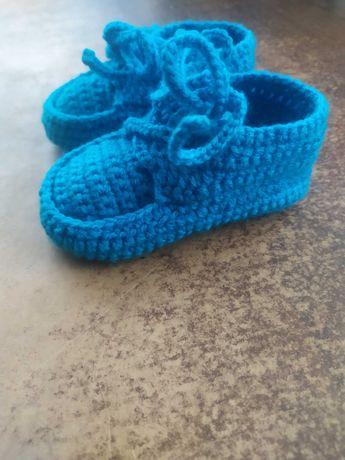 Тапочки дитячі вязані