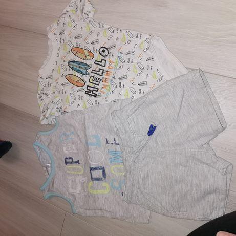 Paczka ubrań spodenki body koszulka