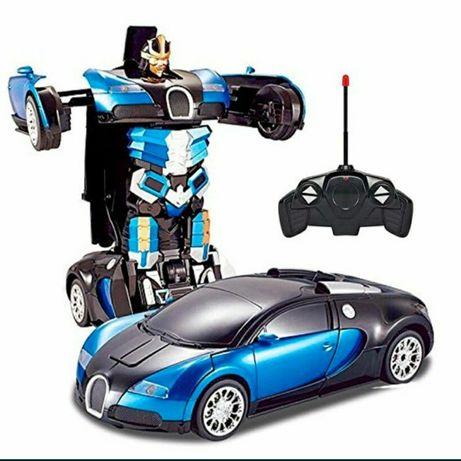 Машинка робот трансформер на радиоуправлении с пультом на Аккумуляторе