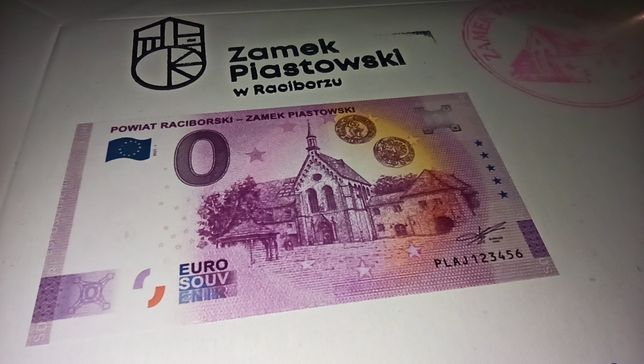 10x banknot pamiątkowy 0 Euro Powiat Raciborski - Zamek Piastowski