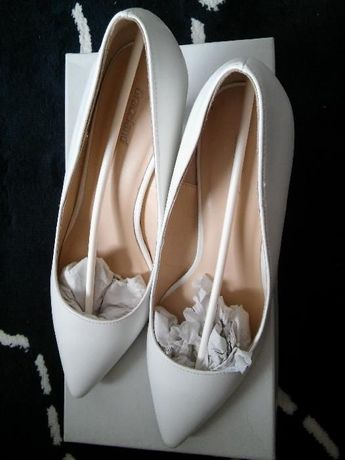 Buty, białe, czółenka ślubne/ do ślubu i nie tylko :)