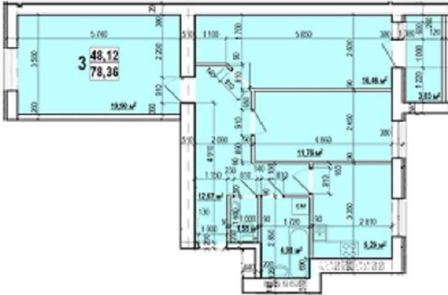 (ЖК Мира) ВСЕГДА 100% НАДЕЖНО! 3х.комн.квартира S-79м2 от Новострой-GS