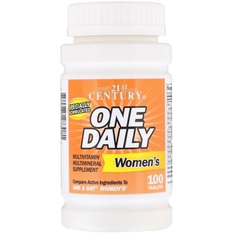 Мультивитамины для женщин, One Daily, 100 таблеток 21st Century США