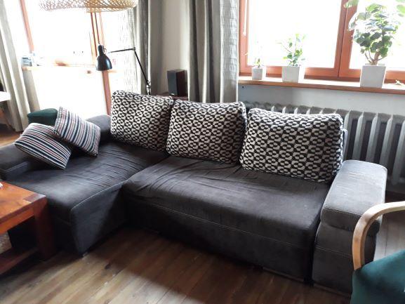 Naroznik kanapa sofa Ikea Agata Meble Rozkladany Szary Transport