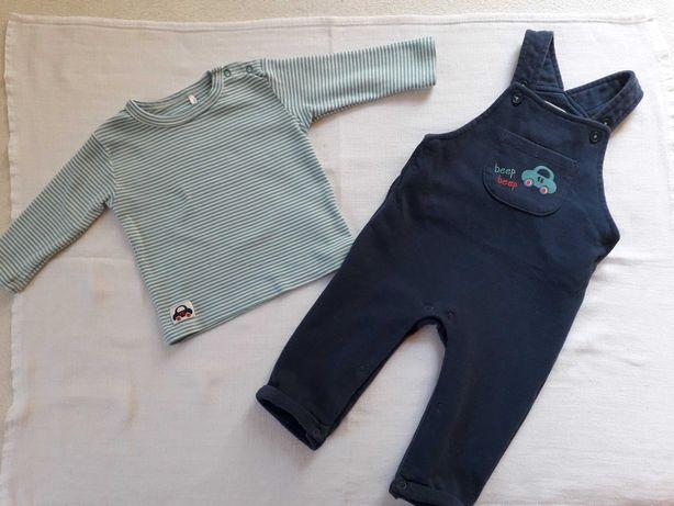 Komplet chłopięcy (bluzka+spodnie) rozmiar 68