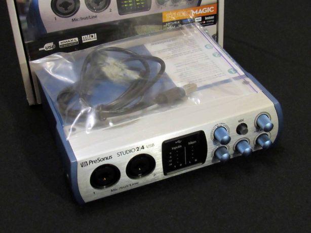 Аудио миди интерфейс PreSonus Studio 24 звуковая карта Audiobox