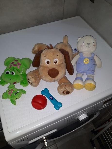 Собачка, мишка, жабки Chicco, за всё 250грн.