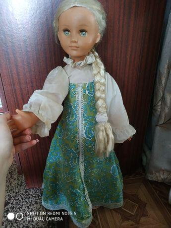Паричковая кукла СССР Алёнушка/Настенька в зелёном сарафане