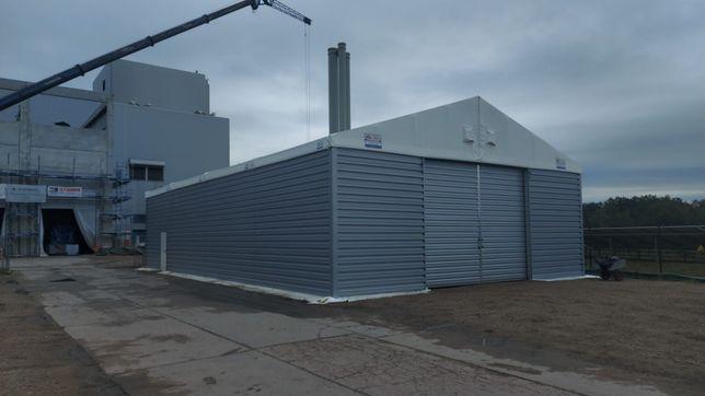 Hala namiotowa aluminiowa 12x30x4 ściany blacha dach plandeka